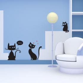 Panneaux luminescents divisant fluowall cats Meow