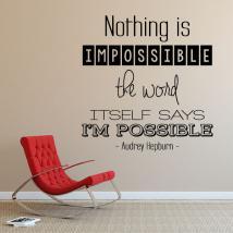Phrases décoratifs vinyle Audrey Hepburn