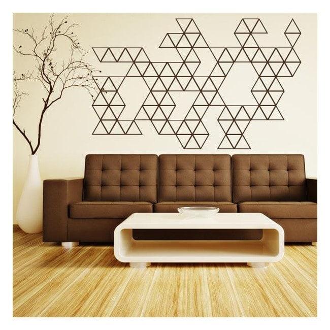 Triangles de vinyle décoratif décoration