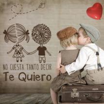 Romantique de vinyle décoratif phrases Te Quiero