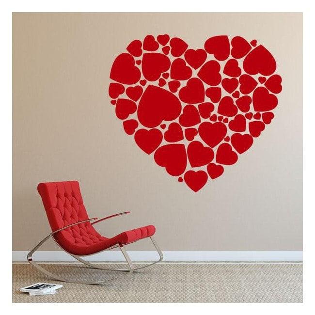 Coeur de vinyle décoratif des coeurs