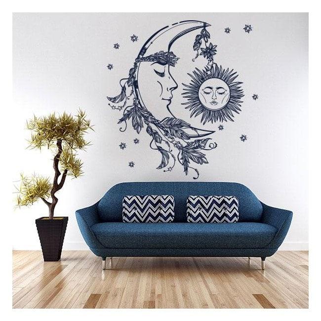 Vinyle de soleil et la lune mystique