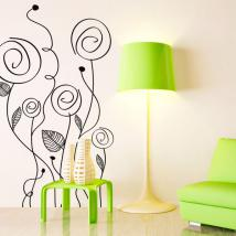 Mur de fleurs de vinyl