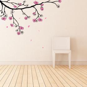 Vinyles de fleur ou le japonais Sakura cerisiers