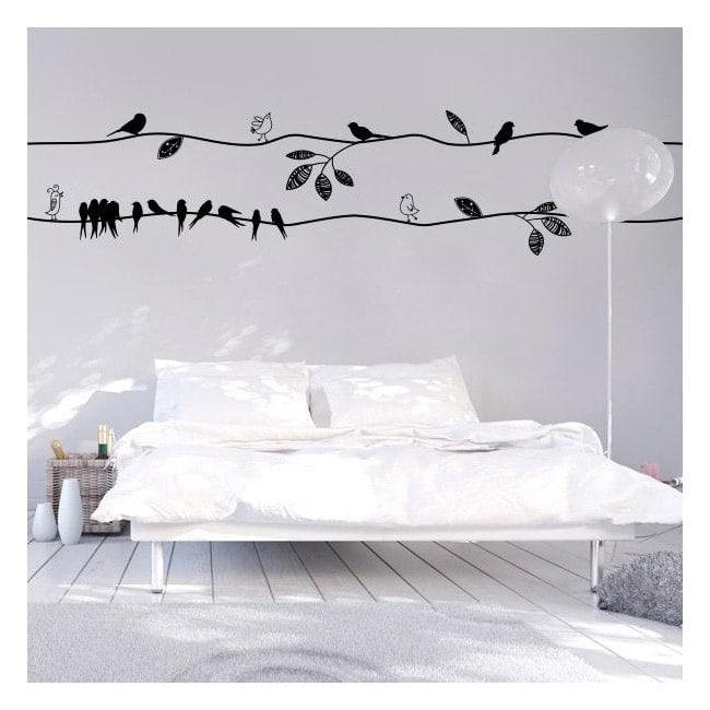 Oiseaux de vinyle avec style
