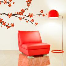 Arbre branche vinyle avec fleurs