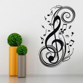Notes de musique de vinyle