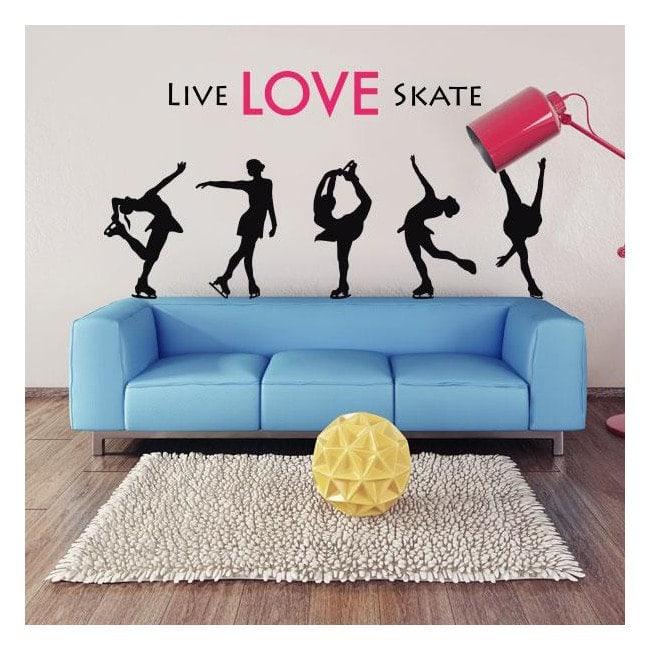Skate de vivre l'amour de vinyle
