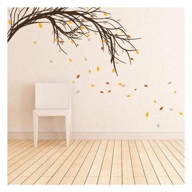 Branche d'arbre avec des feuilles de vinyle