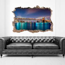 Pont de Brooklyn 3D de vinyle