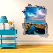 Vinyle murs 3D Sea Ray