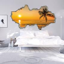 Vinyle murale 3D Sunset Beach
