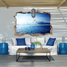 Vinyl 3D soleil et océan
