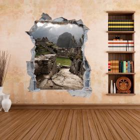 Vinyles de mur 3D Machu Picchu