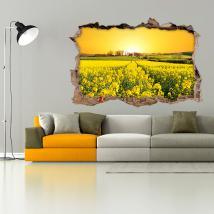 Vinyl 3D fleurs pré nature