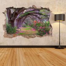 Nature des arbres 3D vinyle