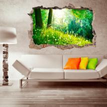 Nature de mur brisé vinyl 3D