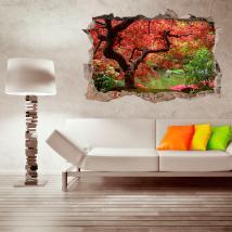 Vinyle érable Japon arbre 3D