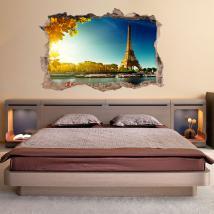 Vinyl mural 3D Tour Eiffel Paris