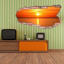 3D Sun dans le vinyle de mer