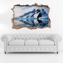 Vinyl 3D Icebergs et montagnes