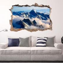 Nuages 3D de vinyle dans les montagnes