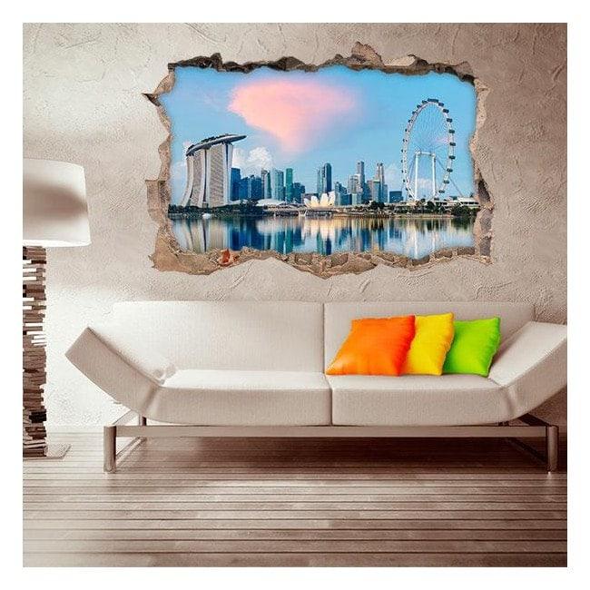 Ville de Singapour 3D vinyle
