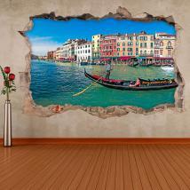 Gondole de Venise 3D de vinyle