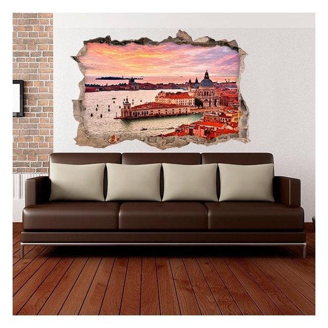 Vinyl 3D Venise mur brisé