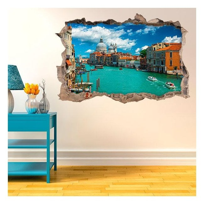 Mur de trou de vinyle 3D Venise