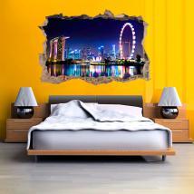 Ville 3D vinyle Singapour