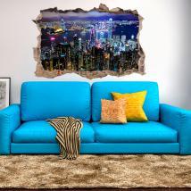 Mur 3D vinyle Hong Kong