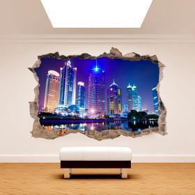 Vinyle murale 3D Shanghai Chine