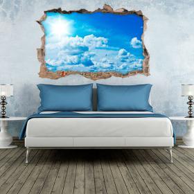 Ciel de vinyle mur 3D
