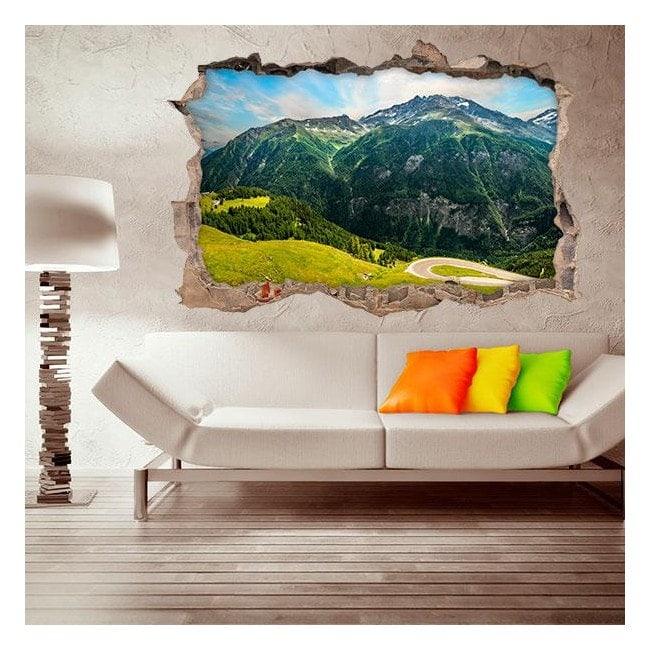 Vinyles de murs de montagne 3D