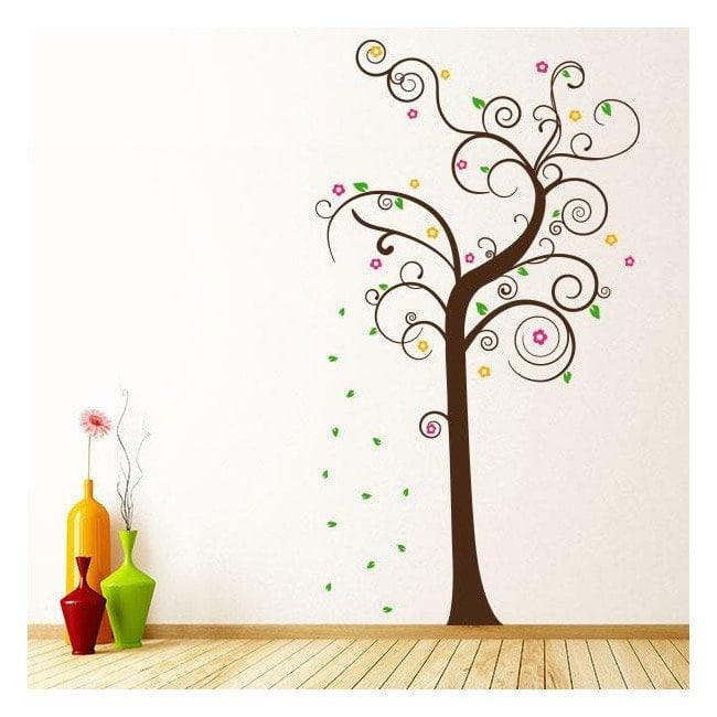Arbre multicolore décoratif de vinyle