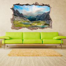 Vinyl 3D lac dans les montagnes French 4577