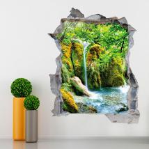 Rivières 3D de vinyle dans les montagnes