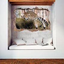 Vinyles de mur 3D Jaguar