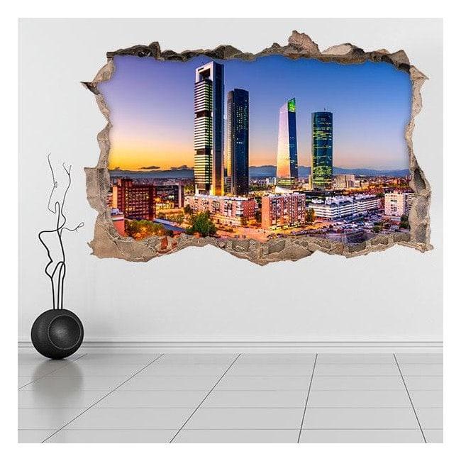 3D vinyle de coeur financier de Madrid
