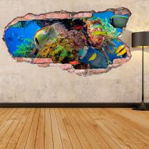 Poisson 3D en vinyle dans la mer