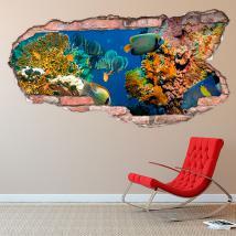 Monde marin 3D de vinyle