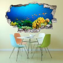 La vie marine de vinyle mur 3D