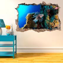 Vie de vinyle sur le récif corallien 3D