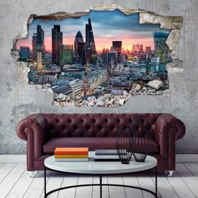 Vinyl 3D city de Londres French 4661