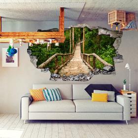 Nature d'escalier de vinyle 3D