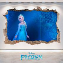 Mur vinyl 3D Disney Frozen trou French 4685