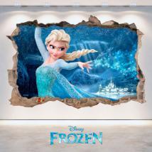 Mur de trou de vinyle 3D Disney congelés