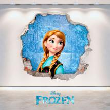 Mur 3D vinyle Disney Anna Frozen trou