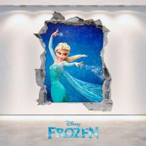 Mur de trou vinyl 3D Disney congelés French 4704